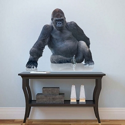 Gorilla Reflection Wall Mural Decal