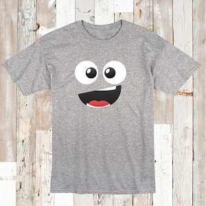Cute Monster Smirk T-Shirt Tee Cute Smiley Shirt
