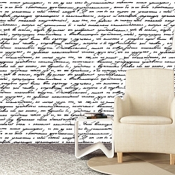 Handwriting Interior Wallpaper Vinyl Wall Decal