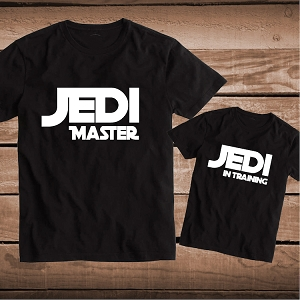 Jedi Master Jedi In Training Matching Tees