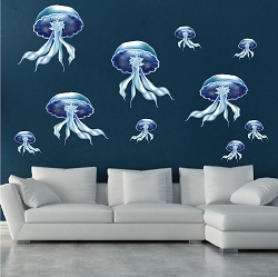 Jellyfish Wall Mural Decal