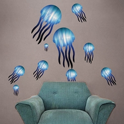 Kids Jellyfish Wall Mural Decal