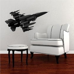 Fighter Jet Wall Mural Decal