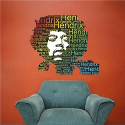 Jimi Hendrix Wall Mural Decal