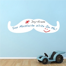 Mustache Dry Erase Wall Decal