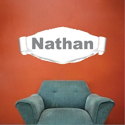 Ripped Wall Custom Name Decal