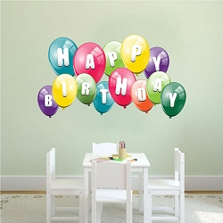 Balloon Birthday Wall Mural Decal