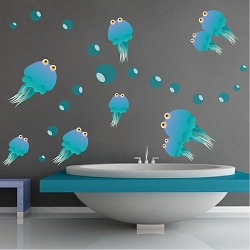 Jellyfish Wall Mural Decals