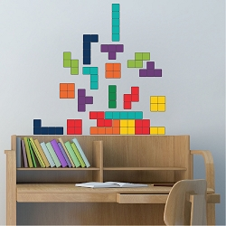 Classic Tetris Wall Mural Decal