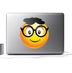 Nerdy Smiley Wall Mural Decal