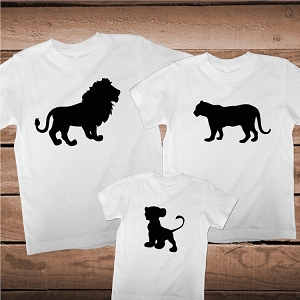Family Matching Lion Pack T-Shirt Tee Family Lion Shirt
