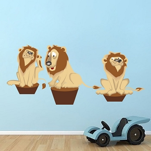 Kids Lions Wall Mural Decal