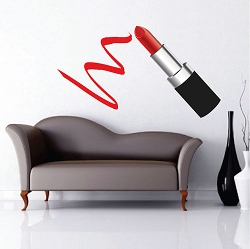 Lipstick Smudge Decal Design