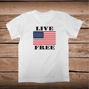 Live Free Independance Day Custom Tee