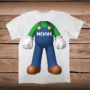 Luigi Body Shirt for Kids