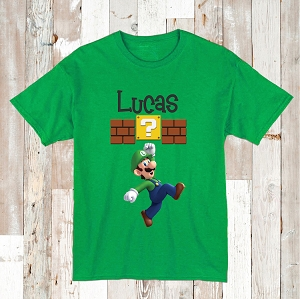 Luigi Custom Tees With Name