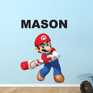 Mario Baseball Bedroom Wall Decal