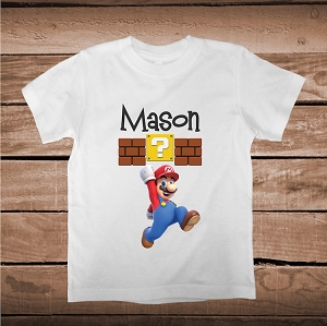 Mario Bros Custom Tees With Name