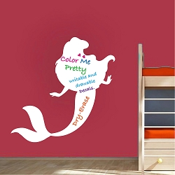 Dry Erase Little Mermaid Wall Decal