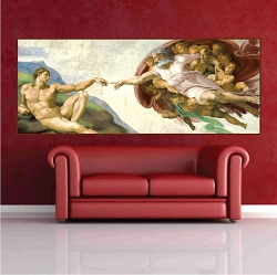 Michelangelo Sistine Chapel Wall Decal Mural