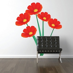 Flower Wall Mural Decal