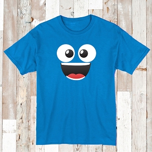 Cute Monster Face T-Shirt Tee Cute Smiley Shirt