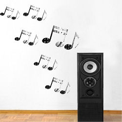 Music Notes Wall Mural Decal