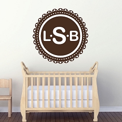 Monogram Wall Mural Decal