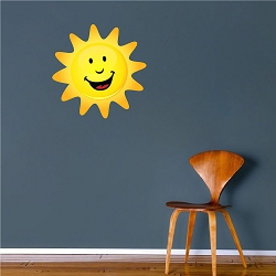 Happy Sun Wall Mural Decal