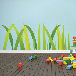 Nursery Grass Wall Mural Decal