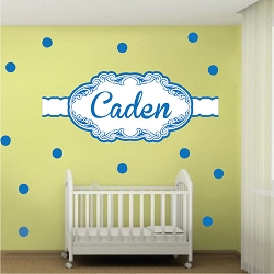 Boys' Custom Name Wall Mural Decal