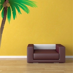 Nursery Corner Palm Tree Wall Mural Decal