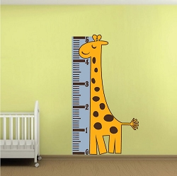 Giraffe Measuring Chart Wall Mural Decal