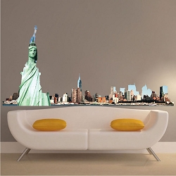 NYC Skyline Wall Mural Decal