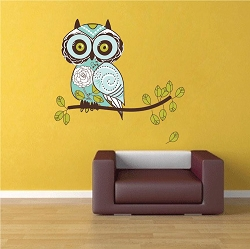 Owl Design Wall Mural Decal