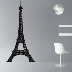 Eiffel Tower Lights Wall Mural Decal