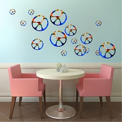 Hippie Peace Signs Wall Mural Decal
