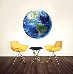 Earth Wall Mural Decal