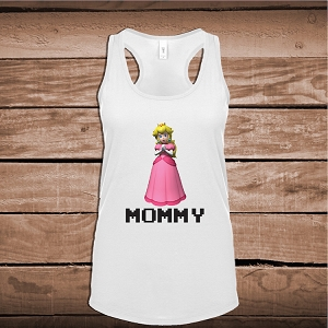 Custom Princess Peach T-Shirt Kids Mario Tee Shirt