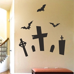 Halloween Graveyard Wall Mural Decal