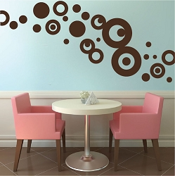 Ring and Dot Wall Mural Decals