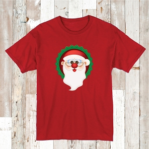 Santa Claus Shirt Tee T-Shirt Christmas Clothes