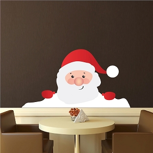Christmas Window Santa Claus Wall Decal