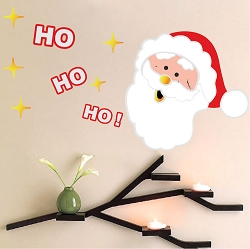Laughing Santa Wall Decal