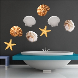 Sea Shell Wall Mural Decal