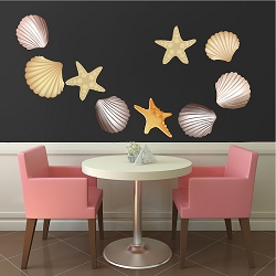 Seashells Wall Mural Decals