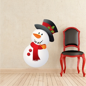 Christmas Snowman Window and Wall Decal