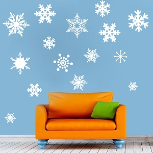 Removable Snow Wall and Window Decals