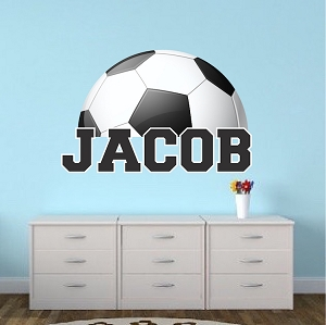 Personalized Soccer Bedroom Wall Art