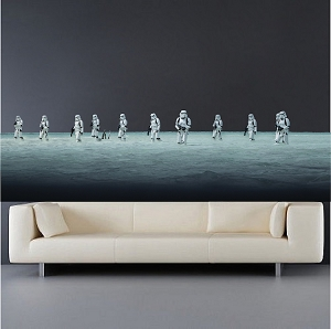 Space Men Wall Decal